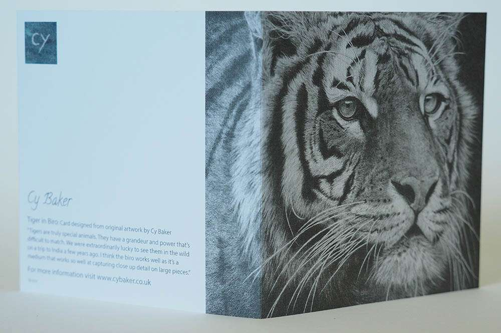 Tiger card front and back