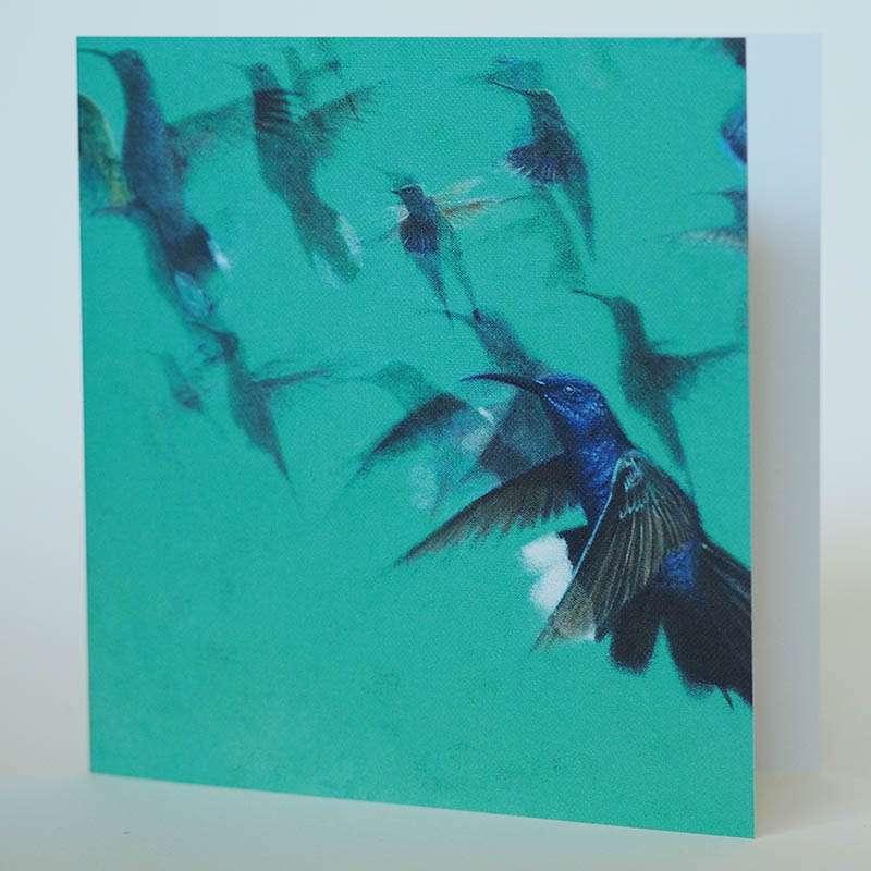 Hummingbirds card