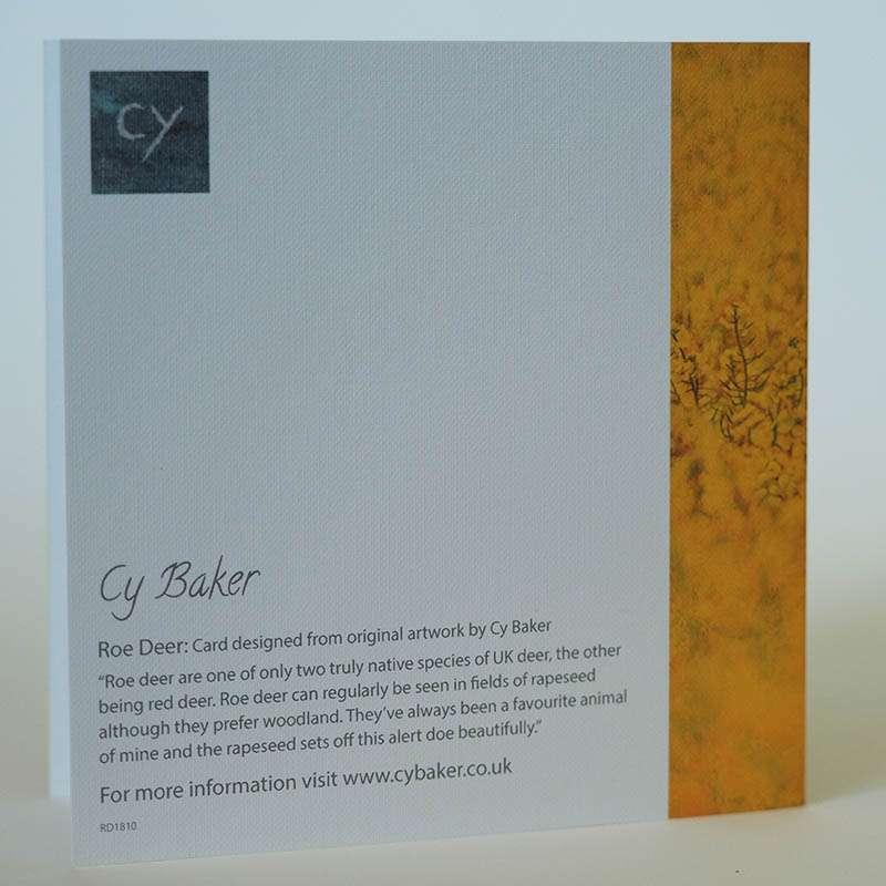 Roe Deer in Rapeseed card back