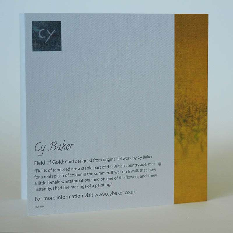Field of Gold card back