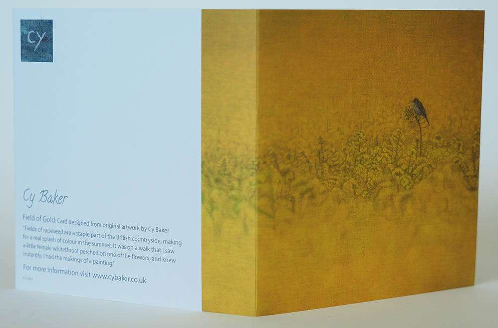 Field of Gold card front and back