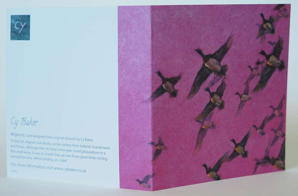 Wigeons card front and back