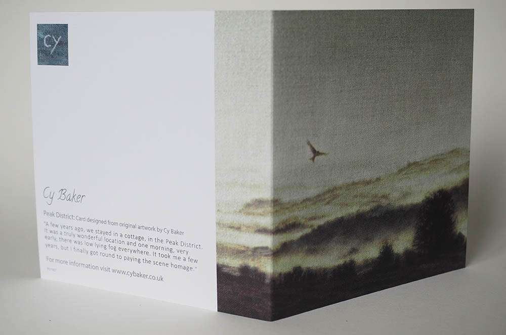 Front and back of the peak district card