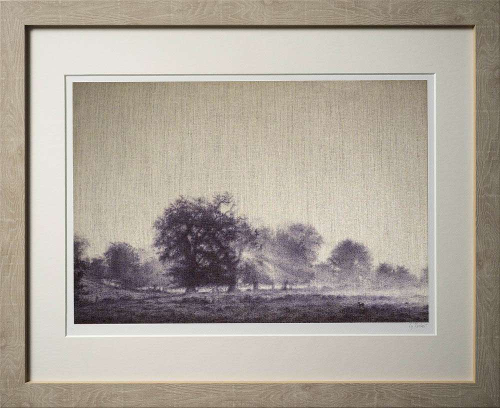 New Forest Dawn print in light frame