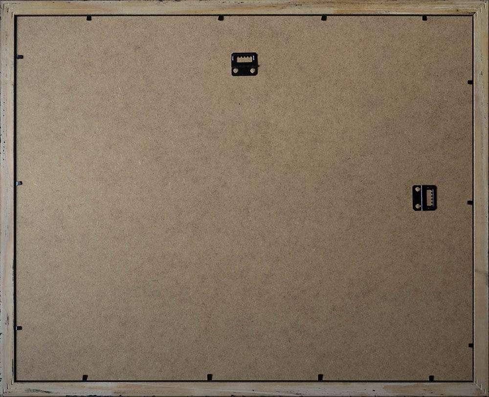 Back of dark A3 frame