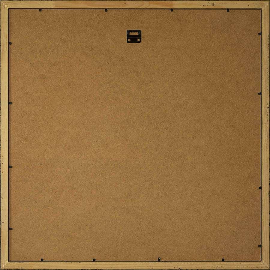 Back of dark square frame