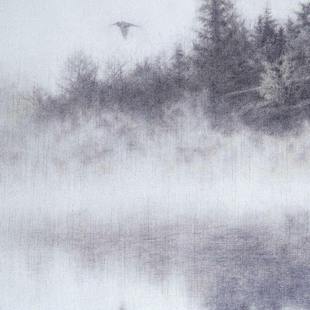 Detail from Morning on the Lake original artwork