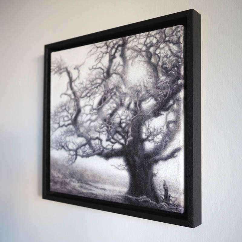 Framed New Forest Oak from the side